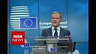 "BREXIT negotiations - Tusk: UK offer for EU citizens ""below expectations"" - BBC News"