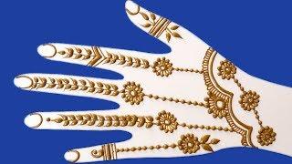 Henna Designs For Beginners | Mehndi Design for hands | latest mehndi designs 2018