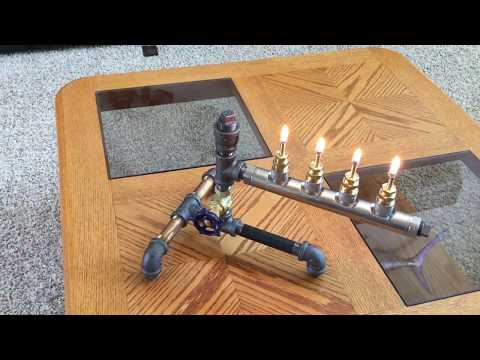 DIY Steampunk Industrial style Oil Lamp