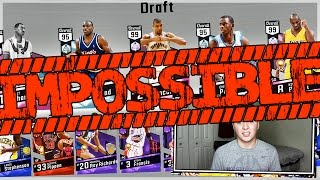 THE MOST IMPOSSIBLE DRAFT CHALLENGE! NBA 2K17 MYTEAM