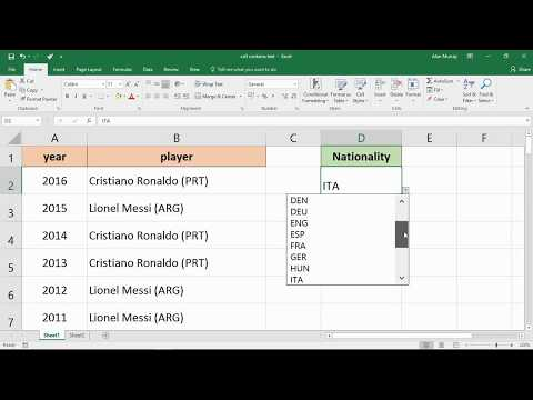 Highlight Cells that Contain a Specific Word - Excel Tip