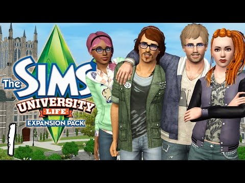 Let's Play The Sims 3 University Life - Ep. 1 - Knowledge Rules!