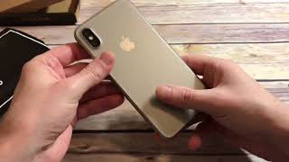 totallee Thinnest Cover Case For iPhone X Unboxing and Review