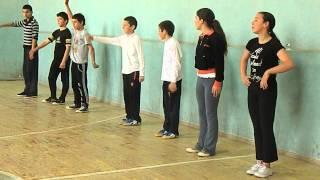 ახალი სამგორის საჯარო სკოლის სპორტის გაკვეთილი VII კლასში