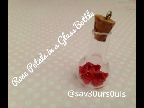 Rose Petals In a Glass Jar