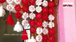 Door hanging woolen hanging/toran || Beautiful gate parda desigen