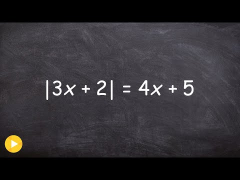 Solving Absolute value equations with a variable on both sides