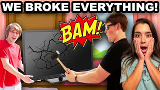 WE BROKE EVERYTHING!!! | With A HAMMER! |