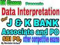 Data Interpretation (D.I.) for J&K Bank PO & Associate Part 2