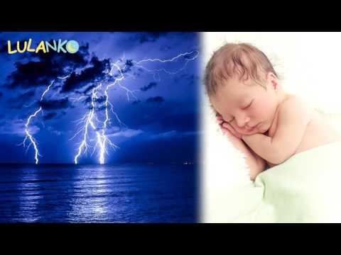 Thunder and rain white noise make baby sleep