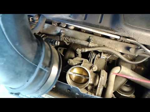 how to fix  low idling Idles problem by clean throttle body 2008 saturn Vue