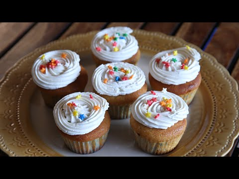 Vanilla Cupcakes | Cupcake With Frosting | Beat Batter Bake With Priyanka
