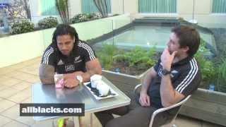 All Blacks Conrad Smith and Ma'a Nonu - Midfield chat.