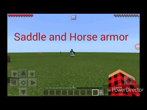 How to put saddle and horse armor on horse in    MINECRFT PE