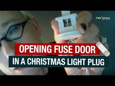 Opening Fuse Door in a Christmas Light Plug