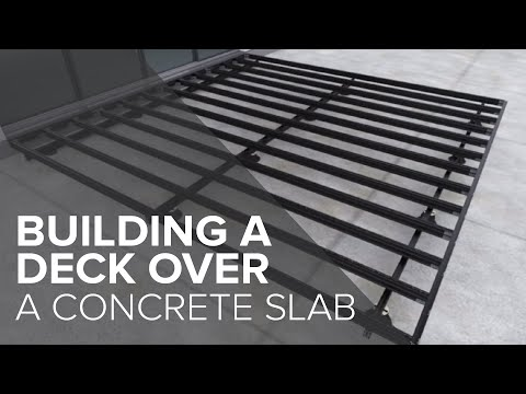Low height deck installation over concrete - Outdure