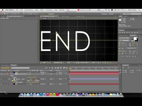 Adobe After Effects Tutorial : creating 'END' film title