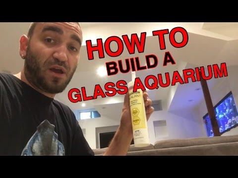 HOW TO BUILD A CUSTOM GLASS AQUARIUM -  PART 1 - preparing the glass