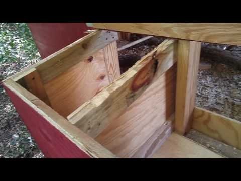 How to build cheap nesting boxes for chicken coop