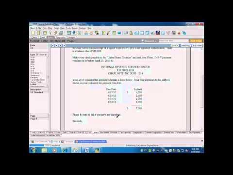 Lacerte tax software: Estimates Screen (Estimated Tax 1040-ES)