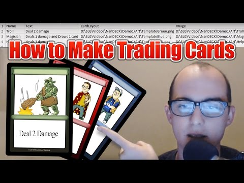How to Make Trading Cards using NanDeck