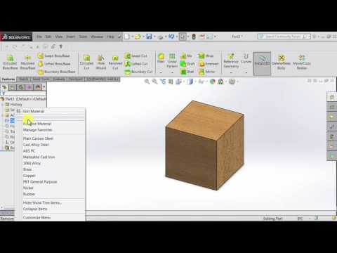 SOLIDWORKS Tutorial: Viewing Mass Properties