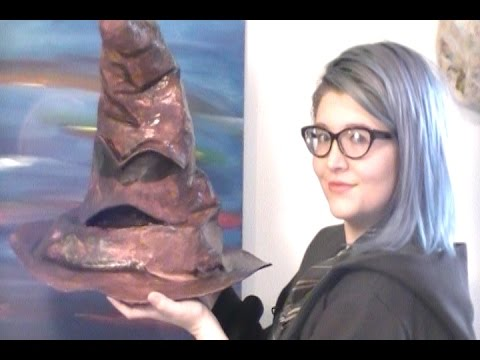 Make Your Own Hogwarts Sorting Hat with Paper Mache
