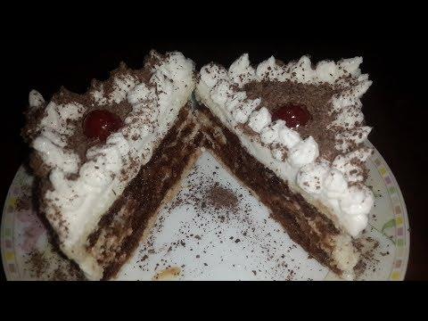 BLACK FOREST BREAD CAKE || ब्रेड से बनाएं केक || CAKE WITHOUT MICROWAVE|| EGGLESS CAKE