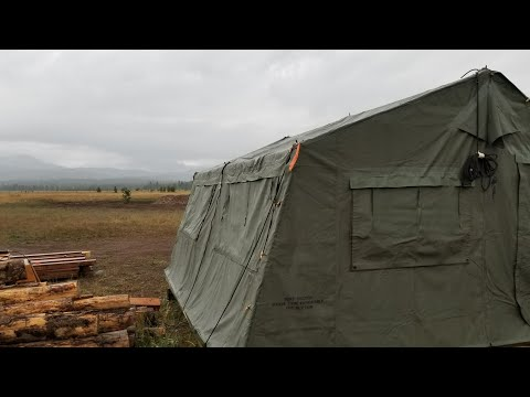 Army Tent vs Yurt,  Staying Out of the Rain on your Off Grid Property