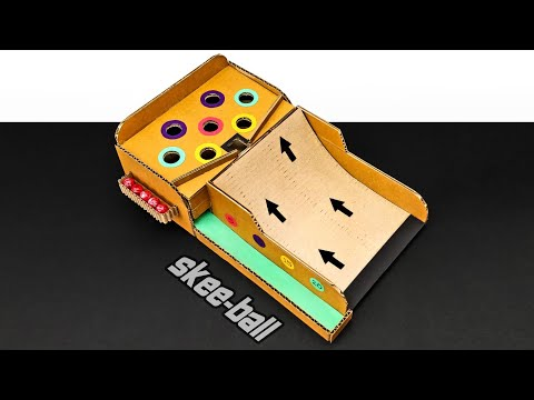 How To Make SKEE-BALL Marble Game From Cardboard DIY At Home