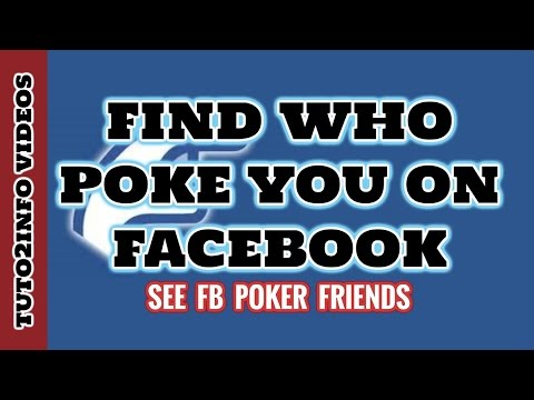 How To Find Someone who Poke You On Facebook | See Poker Friends
