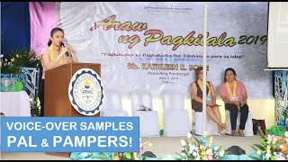 Philippine Airlines and Pampers Voice over Samples for students of San Roque National High School