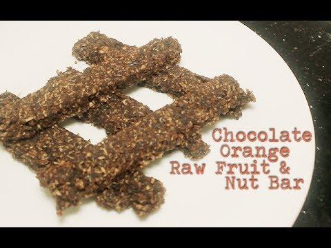 Chocolate Orange Raw Fruit and Nut Bars