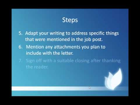 Examples of Covering Letters - How to create amazing cover letters