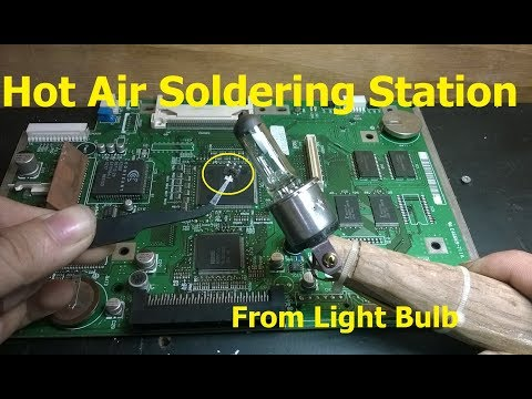Hot Air Soldering Station from Light Bulb