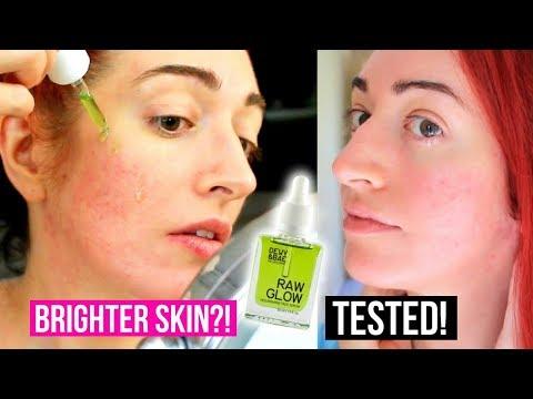 DOES IT WORK? Dewy&Bae Raw Glow TEST! Skin Brightening Serum Review | Jess Bunty