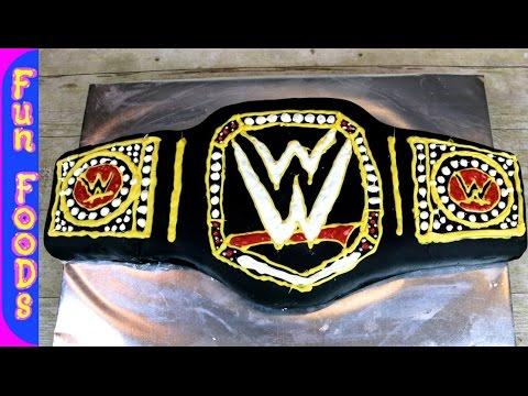 WWE Wrestling Cake | How to Make a Championship Wrestling Belt Cake