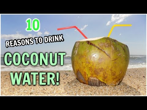 BENEFITS OF DRINKING COCONUT WATER! Weight Loss, Hair Growth, Hangovers, Anti-Aging, Glowing Skin