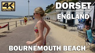 Download The beautiful promenade at Bournemouth beach, Dorest, England [4K] Video