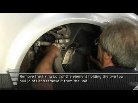 Audi A4 front shock absorber replacement procedure