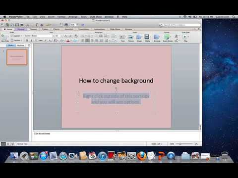 How to change background on Powerpoint !