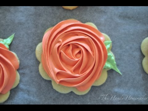Rosette Cookies with Royal Icing