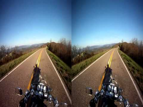 3D HD Motorcycle Trip from Mena, AR to Oklahoma