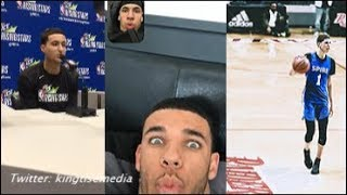 """Kyle Kuzma On LaMelo Ball Joining LAKERS w/ Lonzo """"I Wouldn't Touch The Ball""""; Lonzo & Melo REACT"""