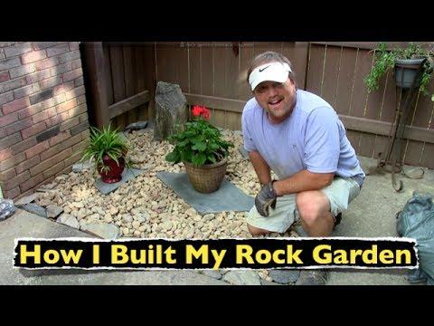 How I Built My Rock Garden ~ Backyard Landscaping