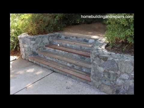 Wood Treads on Rock Stairway Safety Design Tips