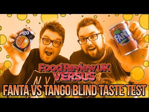 Fanta VS Tango Blind Taste Test Review | Food Review UK VERSUS