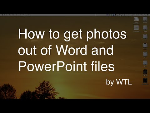 How to extract photos from PowerPoint (.pptx) and Word (.docx) documents