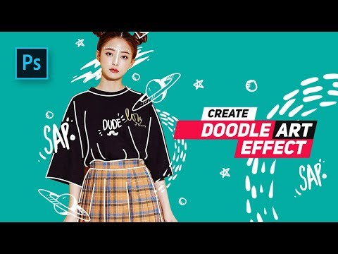 How to Create Doodle Portrait  Effect in Photoshop - Photoshop Tutorials