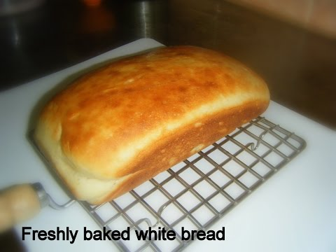 Homemade white sandwich bread-Eggless- Freshly baked